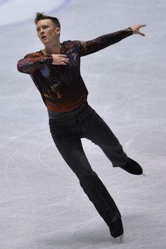 Jeremy Abbott of The United States free program  2013/2014 NHK Trophy, Mens Figure Skating / Ice Skating dress inspiration for Sk8 Gr8 Designs.