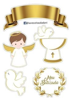 Pin by Eliziane Bach on batismo Happy Birthday Cakes, Girl Birthday, Birthday Angel, Communion, Baptism Decorations, Baby Clip Art, Baptism Party, Baby Album, Cake Images