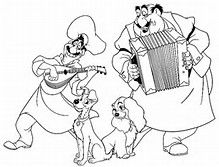 lady and the tramp coloring page - Bing images