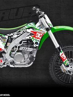 Kawasaki Dirt Bike Graphics Motocross Enduro Decals Kit - Decal graphics for dirt bikes