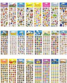 Sticker Party Pack to decorate your scrapbooks, picture frames, etc.