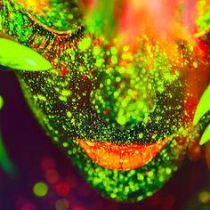 UV Black Light Makeup By Aaron McPolin Black Light Makeup, Uv Black Light, Class Ring, Glow, Fantasy, Photo And Video, Instagram, Fantasy Books, Sparkle