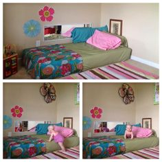 Co sleeping to montessori floor bed transition, infants -toddlers.