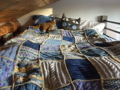 knitted patchwork blankets