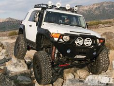 The FJ Cruiser is definitely a distinctive vehicle. It does not have anti-roll technology. The Toyota FJ Cruiser isn't marketed by Toyota Nigeria Toyota Fj Cruiser, Fj Cruiser Off Road, Toyota 4x4, Toyota Trucks, 4x4 Trucks, Custom Trucks, Lifted Trucks, Carros Toyota, Off Roaders