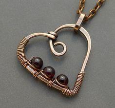 Wire Pendant, Wire Wrapped Pendant, Wire Wrapped Jewelry, Copper Necklace, Copper Jewelry, Wire Jewelry, Handmade Copper, Handmade Jewelry, Mixed Metal Jewelry