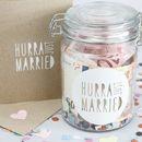 Geld geschenken - Jar + KAART * hoera Gewoon ... * - ENL stuk Ontwerper van de Bruid-op bruidegom DaWanda