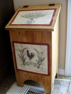diddle dumpling: Before and After: 'Tater' bin and Wooden Stool