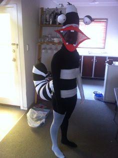 Oblina (Aaah Real Monsters) costume Nickelodeon DIY 90s Cartoon 90s Cartoon Costumes, Monster Costumes, Real Monsters, Bump, Costume Ideas, Halloween, Night, Diy, Costumes