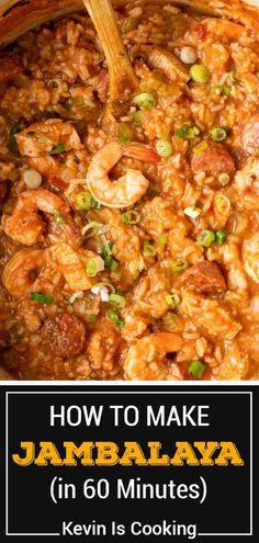 Learn how to make jambalaya in a just few simple steps. Try this recipe tonight for a flavorful meal of meat, seafood, vegetables, and rice! Seafood Recipes, Vegetarian Recipes, Cooking Recipes, Healthy Recipes, Vegetarian Cooking, Cooking Tips, How To Make Jambalaya, Pork Recipes For Dinner, Recipe Tonight