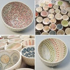 I'd love to paint my own set of dishes!