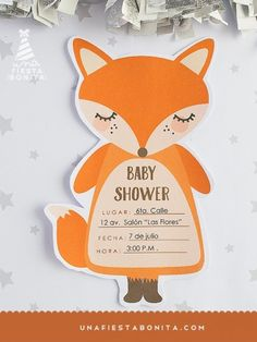 INVITACIÓN - BABY SHOWER - ZORRITA - imprimible