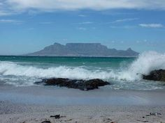View of Table Mountain from Bloubergstrand Beach, Cape Town, South Africa Best Beaches on the Cape, South Africa Cape Town South Africa, Table Mountain, Olympic Peninsula, Whale Watching, Funny Art, Foodie Travel, Architecture, City, Water