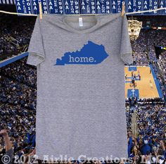 Kentucky Home State shirt University of Kentucky UK Colors - Special Edition. $22.95, via Etsy. I ABSOLUTELY NEED THIS!!!!!