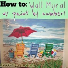 How to: Wall Mural Paint by Number