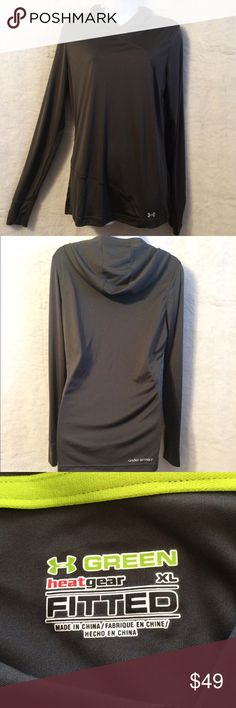 Under Armour Grey Hoodie Under Armour Grey Pull Over Hoodie with Thimb Holes. Tag read XL but it fits M/L. Under Armour Jackets & Coats