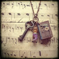 Book Lover  Handmade Copper Chain Necklace With by ComeDayGoDay, $28.00