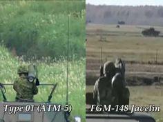 Japan Type 01 LMAT (ATM-5) VS U.S. FGM-148 Javelin ATGM Missile launch b...