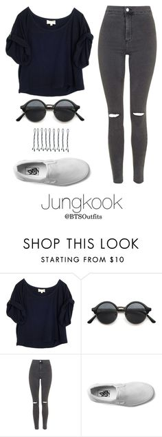 """Disneyland with Jungkook"" by btsoutfits ❤ liked on Polyvore featuring Elizabeth and James, Topshop, Vans and BOBBY"