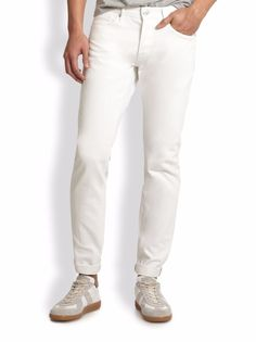 3x1 Men's 'M3' Slim Fit Selvedge Tapered Leg White Denim Jeans 29x34 NWT $245 #3x1 #SlimFit