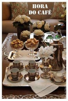como receber para um café em casa-0 como receber em casa decoração mesas