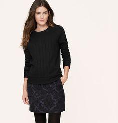 Braided Sweatshirt | Loft (black)