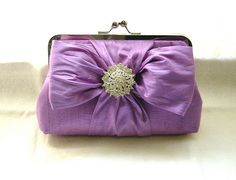Lilac Bridal Clutch Purse - Crystal Brooch - Chloe | Flickr - Photo Sharing!