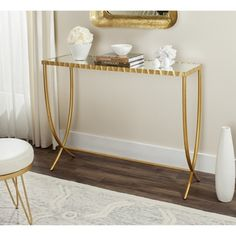 Shop For Safavieh Princess Gold/ Mirror Console. Get Free Shipping At  Overstock.com
