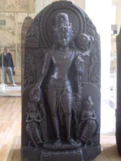 #Buddha British Museum, London U.K. by Cormaël Lia    hubby in the background saying 'Peace'