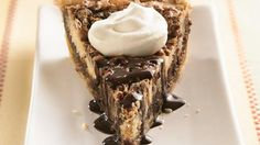 CHOCOLATE SURPRISE PECAN PIE: Layer up a masterpiece when you're looking for an extra special pie, perfect for a holiday or to tote to a potluck. Pie Recipes, Dessert Recipes, Dessert Ideas, Fall Recipes, Recipies, Pillsbury Recipes, Chocolate Flavors, Chocolate Chips, Chocolate Cake