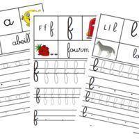 Voici 26 fiches pour s'entraîner à écrire les lettres cursives.Sur chacune, la lettre dans les 3 écritures (majuscule, script et cursive) + le référent de la planète des alphas + un animal...