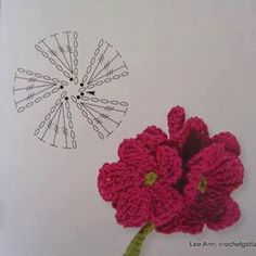 fiore rosr flower crochet pattern