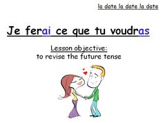 PowerPoint revising the future tense in French and worksheet with a poem to be changed from present to future tense.  (Valentine's day / love theme)