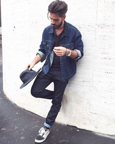 Giotto Calendoli - awesome denim on denim look