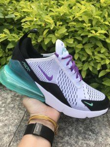 Mens Womens Winter Nike Air Max 270 Casual Sneakers White Purple