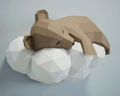 3d Paper Art, Paper Crafts Origami, Diy Paper, Paper Crafting, Origami 3d, 3d Models For Printing, Origami Templates, Paper Animals, Templates Printable Free