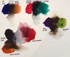 mixing blacks- I always mix my blacks making a much richer color than what comes out of a tube. Alizarin Crimson, Ultramarine Blue, and Phthalo Green mix is the combo that I use most.