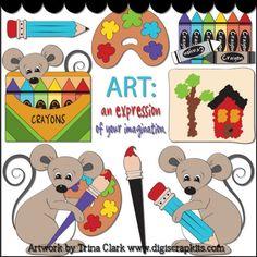 School Days Art 1 - Non-Exclusive Clip Art