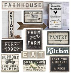 Farmhouse signs under $50