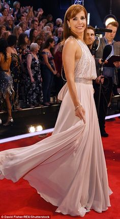 b8637055 Beaded and backless: The former ballerina gave fans the benefit of her  stunning gown's beaded