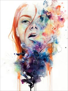 This Thing Called Art Is Really Dangerous - Absolutely love this artist-Agnes Cecile...wanna be able to do this for one of my pieces