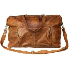 VIPARO Tan 20 Inch Large Vintage Wash Leather Travel Duffle Hold-all Overnight Bag - Crosby