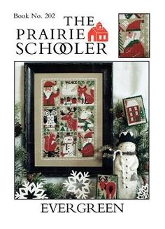 Evergreen is the title of this Christmas cross stitch pattern from The Prairie Schooler that has been retired. However, Hoffman Distributing got exclusive rights to the remaining Prairie Schooler inventory as well as the copyright to do reprints. This is a reprint.