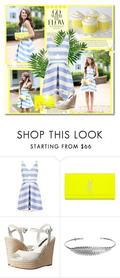 """""""Feel the Sunshine"""" by petri5 ❤ liked on Polyvore featuring Topshop, Yves Saint Laurent, Alice + Olivia, Nadine S and Kendra Scott"""