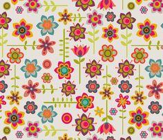 Little Flowers fabric by valentinaharper on Spoonflower - custom fabric
