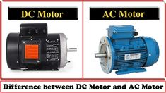 DC Motor vs AC Motor - Difference between DC Motor and AC Motor The main difference between AC motors and DC motors can be found in the name itself for, DC m. Electrical Engineering Books, Engineering Science, Electrical Projects, Electrical Wiring, Mechanical Engineering, Teaching Science, Youngstown State, Electric Motor, Different
