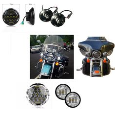 """89.88$  Watch now - http://aliqvm.worldwells.pw/go.php?t=32779821874 - """"New 4.5"""""""" & 7"""""""" 7 Inch Motorcycle Projector Daymaker Hi/Lo LED Light Bulb Headlight Passing spot light For Harley moto Lighting """""""