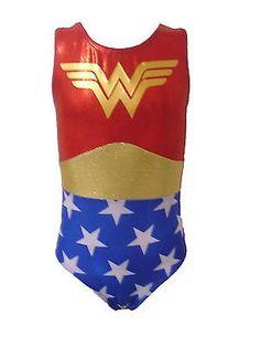 Girls Wonder Woman gymnastics leotard by Arisbethleotards on Etsy Gymnastics Wear, Girls Gymnastics Leotards, Gymnastics Outfits, Dance Leotards, Gymnastics Stuff, Dance Outfits, Cute Outfits, Kids Outfits, Wonder Woman Superhero