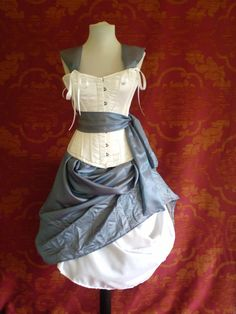 Alice In Wonderland Corset Costume Oufit-Whole Corset Costume Outfit-MADE FOR BUYER. $369.00, via Etsy.