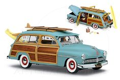 light blue woodie cars | 1949 Mercury Woody Station Wagon